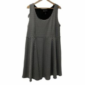 Lane Bryant Sleeveless Midi Dress Black & White 22